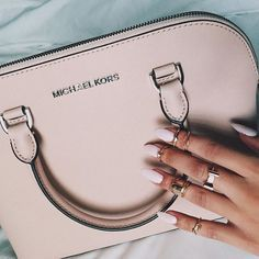 Surprised how much I like this pink. Good size MK bag.