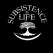 """Subsistence is Life"" is a design that represents the importance of our subsistence lifestyle and the ULU (traditional knife) represents all the late nights and early mornings of cutting salmon on the river banks."