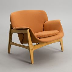 Carin Bryggman; Birch Lounge Chair for Boman, 1950s.
