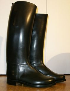 BOTTES WESTON POLICE FRENCH POLICE MOLLET XL CALF  FR 43 US 9 UK 8,5 ROB LEATHER