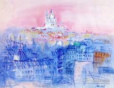 Raoul Dufy,View Of Sacré Coeur oil painting reproductions for sale