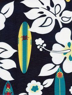 hawaiian print floral + longboards