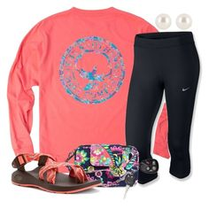 """""""❤️God Loves You!"""" by olivia73001 ❤ liked on Polyvore featuring NIKE, Vera Bradley, Chaco and Henri Bendel"""