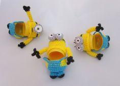 Häkelanleitung für Anfänger Minion Ü-Eier Schlüsselanhänger