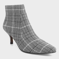 637c74fce929 Women s Delilah Plaid Heeled Ankle Fashion Boots - Who What Wear™ Gray 7.5    Target