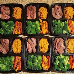 meal prep plans I was going go to with curry again this week because last weeks meal was so damn good but I went with steak and veggie meal prep this week Veggie Meal Prep, Lunch Meal Prep, Meal Prep Bowls, Healthy Meal Prep, Healthy Steak, Best Meal Prep, Meal Prep Plans, Meal Prep For The Week, Meal Preparation