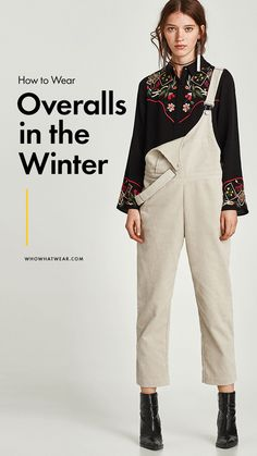 What to wear with overalls in the winter