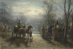 Para a festa Otto Eerelman (Holanda, 1839-1926) Aquarela sobre papel, 40 x 58 cm
