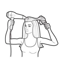 Get out the door on time: How to dry straight or curly hair faster―and better.  Step 3: Shape Ends and Finish Remove the clip. Flip all hair back. Part and dry hair around the forehead. To curl ends, roll them under with a round brush, blast with heat, and set with cold air. For a straight finish, pull the brush through while drying ends with warm air; set with cold air. Apply styling cream to tamp down flyaways, or mist with hair spray.