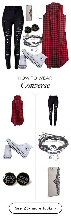 """Untitled #92"" by panaitteo on Polyvore featuring Converse and Nanette Lepore"