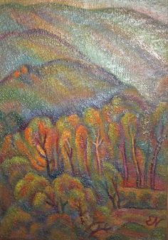 Vintage oil painting landscape signed by jazzystudio on Etsy