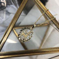 Vintage 10k Yellow Gold Sagittarius Wreath Pendant Vintage Items, Vintage Jewelry, Frame Wreath, Sagittarius, Product Description, Wreaths, Yellow, Diamond, Pendant