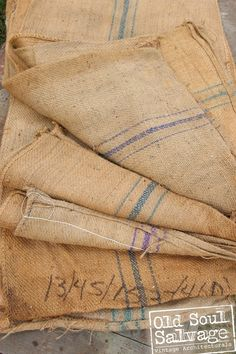 Grain Sack / Bag  Great for table runners pillow by OldSoulSalvage, $9.25