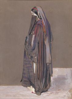 A Veiled Egyptian Girl - John Frederick Lewis 19th century