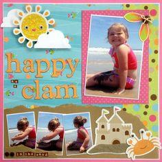 So cute beach layout!  happy as a clam