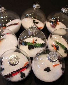 DIY: Melted Snowman Ornaments