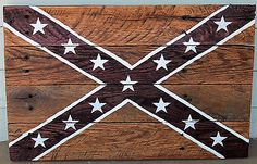 Confederate Southern Rebel Flag Reclaimed Pallet Wood Stained ...