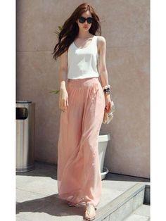 2012 Korean Style Shopping Sexy Gaze Chiffon Wide leg Pants