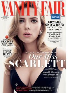 Scarlett Johansson is sexy and sophisticated on Vanity Fair's May 2014 cover!
