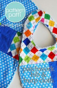 cute quilted bib and burb cloth