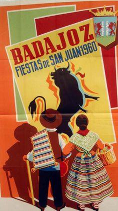 Carteles de la Feria de San Juan de Badajoz   Cultura Badajoz