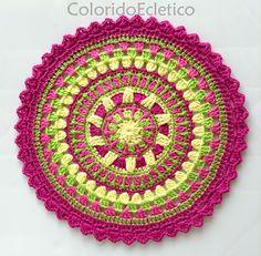 ColoridoEcletico: Mandala ColoridoEcletico - Footsteps; Option to translate into English pattern