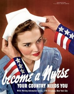 vintage nurses uniforms for sale | Vintage Nurse Poster