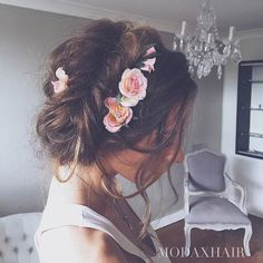 28 Trendy Wedding Hairstyles for Chic Brides My Hairstyle, Pretty Hairstyles, Wedding Hairstyles, Braid Hairstyles, Wedding Hair And Makeup, Bridal Hair, Hair Makeup, Prom Makeup, Braided Prom Hair