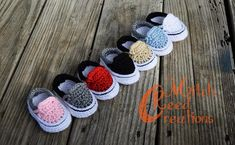 bec64f69cec6c This is a listing for one pair of Crochet Baby Van Shoes. The heel is