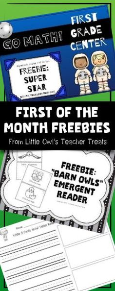 """Hey there, teacher friends! I'm just bringing you a quick update to let you know about something special I've started for my followers. Each month, I'll be posting a """"First of the Month Freebie"""" for you to download as a THANK YOU for the support you've gi"""