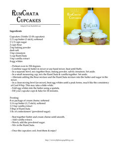 RumChata cupcakes! Here's the recipe! I put red food dye in my icing to get pink icing!