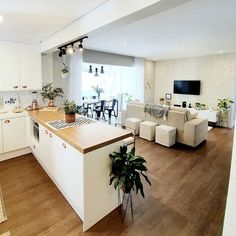 Best 35 Home Decor Ideas - Lovb Kitchen Room Design, Home Room Design, Modern Kitchen Design, Home Decor Kitchen, Interior Design Kitchen, House Design, House Rooms, Home Living Room, Kitchen Remodel