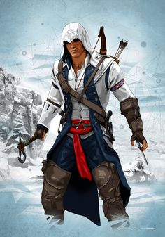 Assassin's Creed - Game (Connor Ratonhnhaké-ton Kenway) Assasin Creed Unity, Arte Assassins Creed, Assassins Creed Quotes, Gamify Your Life, Assassin's Creed 3, Assassin's Creed Hidden Blade, Assassin's Creed Wallpaper, Connor Kenway, Templer
