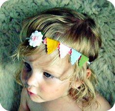 bunting headband too cute