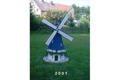 Gartenwindmühle aus Beton Zustand neu