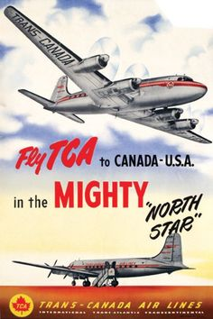 photography and lithographic poster in colours, cond. Travel Ads, Airline Travel, Air Travel, Canadian Airlines, British Airways, Retro Ads, Vintage Advertisements, Tourism Poster, Art Deco Posters