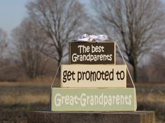 Great Grandparents Wood Block Stack The Best by SpangGangDesigns, $30.00