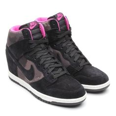 Nike Shoes Dunk Women's Dunk Sky Hi Print Wedge Rubber rubber sole Metallic fabric or ikat printed nylon upper Lightweight EVA midsole for cushioning Hidden wedge heel for a feminine yet sporty silhouette Solid rubber outsole for durability and traction Retro Jordans 11, Nike Air Jordans, Nike Air Max, Nike Basketball Shoes, Nike Shoes, Sneakers Nike, Nike Dunk Sky Hi, Nike Wedges