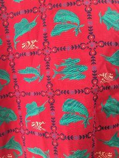 Reyn Spooner Red Green Fish Hawaiian Traditionals Shirt Lightweight Cotton L #ReynSpooner #Hawaiian