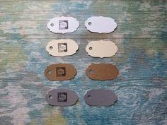 Étiquettes personnalisées, Étiquettes à bijoux, étiquettes à vêtements «Mini mini! Modèle C» (50) 4 couleurs disponibles de la boutique Lamainalacarte sur Etsy