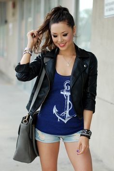 We love how Jessica from Hapa Time http://www.hapatime.com/2013/05/everyday-gray.html rocked out our Anchor Tank http://www.skipnwhistle.com/nautical-anchor-tank-top/