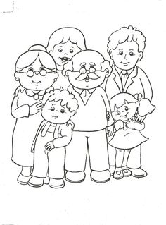 Preschool Family Theme, Family Crafts, Preschool Activities, Family Coloring Pages, Coloring For Kids, Art Drawings For Kids, Drawing For Kids, Drawing Drawing, Coloring Sheets