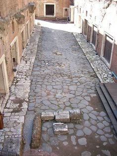 Ancient roman street in Rome