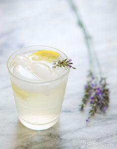 Lavender Lemonade ~ Homemade lemonade with infused lavender. ~ SimplyRecipes.com