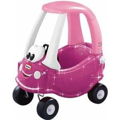 Princess Cozy Coupe with Glitter Great idea for her 1st Bday & will last her a couple of years.