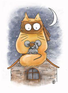 Era uma vez um gatinho-zorro ou um gatinho-ladrão?!!! ... ^=^