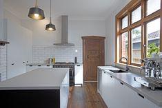 Sally Steer Design Wellington, New Zealand. Caesarstone Raw Concrete, Design Kitchen, Kitchen Ideas, Southwest Kitchen, Rosemary Beach, Work Tops, Living Room Kitchen, Sally, Townhouse
