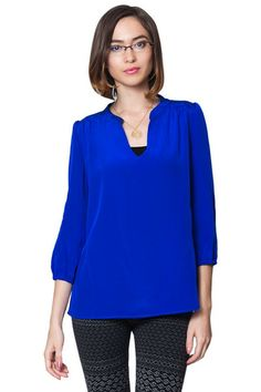 Womens Royal Blue Blouse