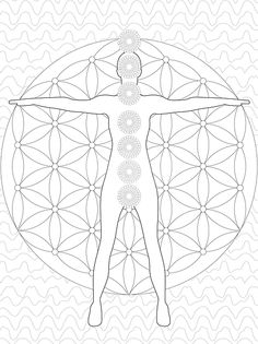 chakra mandala printable coloring pages - photo#34