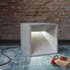 betonWare lichtWürfel (grau)- concrete